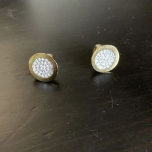 Michael Kors Gold & Swarovski Stud Earrings